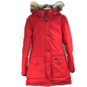 CANADA GOOSE 6550L Hooded Trillium Parka Outer down coat Down jacket Red