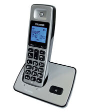TELEFONO CORDLESS DECT GAP TELMAR VEGAS VIVAVOCE SILVER CONTRASSEGNO 3€