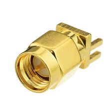 "SMA Male End Launch 0.062"" PCB Mount Solder Attachment Coaxial Connector"