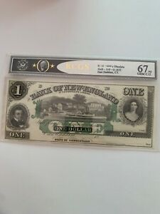 Bank of New England $1 1800's