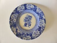 "Wedgwood Vintage Blue Grape and Vine Plate, Blue & White 8"" Display Plate"