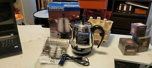 New FCP240 Farberware Millennium Electric Coffee Percolator 2-4 Cup Stainless