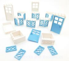 LEGO WINDOWS AND DOORS SET --32 Piece Set in BLUE AND WHITE - Brand New