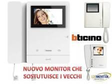 MONITOR VIDEOCITOFONO BTICINO BIANCO 344625  2 FILI PIVOT POLYX Swing 344824