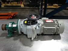 Leroy-Somer 0.75HP Motor + SM-Cyclo Reducer 25:1 +Comtrac Adjustable Speed Drive