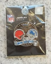 Cleveland Browns vs Detroit Lions 11/20/17 NEW GAME DAY PIN Ships Free