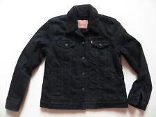 Levi's Jeans Jacke: schwarzes Teddy Fell Gr. M, schwarz ! warm gefüttert, TOP !