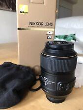 Nikon AF-S VR Micro-Nikkor 105mm f/2.8G IF-ED Lens In Original packaging