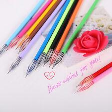 12 pcs Cute Diamond Head Gel Pen Refills 0.38mm Ink Kawaii School Stationery