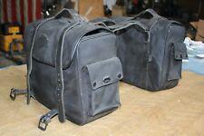 Harley saddlebags throwover black nylon canvas FXR Dyna XL Softail FXRT EP23315