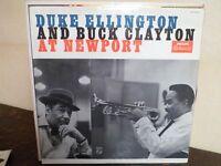 LP - DUKE ELLINGTON AND BUCK CLAYTON - At Newport - EX+/EX+ - PHILIPS  B 07208 L