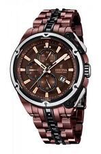 Festina 100 m (10 ATM) Armbanduhren aus Edelstahl mit Chronograph