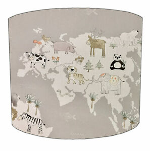 World Animal Nursery Lampshades, Ideal to match Animal Wallpaper, Animal Duvets.