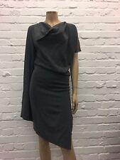 Vivienne Westwood Anglomania Grey Wool Draped Dress Size 38 Stunning Design