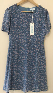 Woman's blue vanilla dress 10 Brought from silk Fred.New with tags