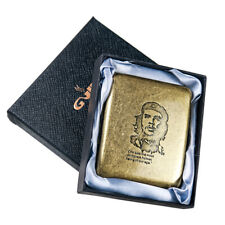 New Carved Che Guevara Vintage Brass Cigarette Case Holds 20 Cigarettes Gift box