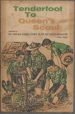TENDERFOOT TO QUEEN'S SCOUT CANADIAN BOY SCOUTS BOOK