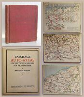 Baschaga Autoatlas des Deutschen Reiches für Kraftfahrer 1925 Karten Pläne xz