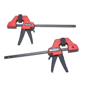 Woodworking Clip F Style Wood Clamp Plastic Grip Ratchet Release DIY Hand Tool