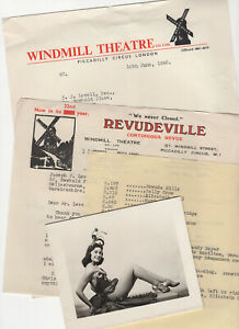 Windmill Theatre, Christmas Card and correspondence 1950s & 1960s, 4 items