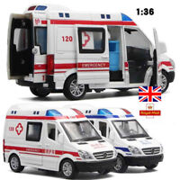Ambulance Car Police Cars Hospital Metal Model Alloy Toys Kids Gifts