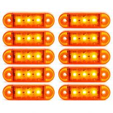 10x Begrenzungsleuchte 3 LED Umrissleuchte 12V 24V Volt Gelb Positionslicht LKW