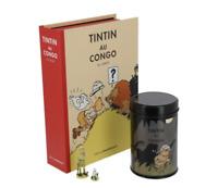 PACK TINTIN AU CONGO CAFE TINTIN ET L'HOMME LEOPARD hergé moulinsart  3000 exemp