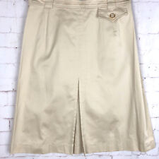 🌹ESCADA 100% COTTON Creamy Soft Skirt w/Belt Loops Sz 34  Bx15