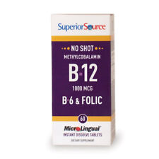 No Shot Methylcobalamin B12/B6/Folic Acid Superior Source 60 Sublingual Tablet