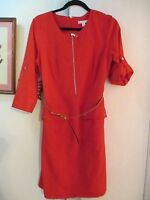db established 1962 -  Red Dress with Belt  - Size 8  -  Polyester/Rayon/Spandex
