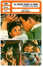 FICHE CINEMA : LA FIEVRE DANS LE SANG - Wood,Kazan 1961 Splendor In The Grass