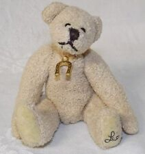 Ganz Cottage Lucky Charmer Bear with Horseshoe NWT Artist Design