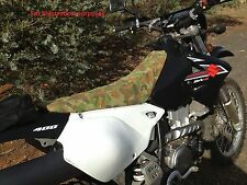 Suzuki DRZ400 Motorbike camo canvas seat cover
