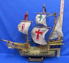 Vintage Wooden Ship Model Santa Maria 1492 Pirate Sailing Model Nautical Sails