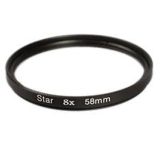 FILTRO a stella 8 volte 58 mm STAR Filtro per tutti i filtri filettatura MT 58mm Ø