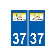 37 Monnaie logo ville autocollant plaque stickers arrondis