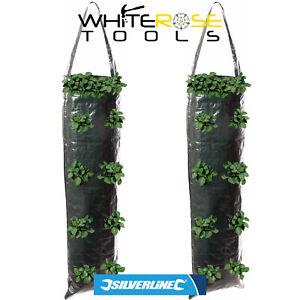 Silverline Hanging Basket Grow Tube Plant Garden Flowers Vegetables 2 Pack