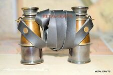 Antique Brass Binoculars Nautical Leather Belt Royal Marine Collectible Gifts