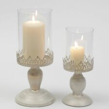 Pillar Candle Lantern Glass Dome Holder Wedding Table Decoration