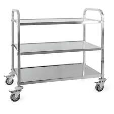 TROLLEY CART 3 SHELVES STAINLESS STEEL CATERING SERVICE * FREE P&P UK OFFER *