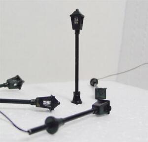 HO Scale 7 Model Traditional Cast Iron Lights 7 Pieces W/Resistors & Diagram 16V