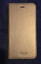 KNOMO Premium Leder Etui Tasche+Schutzhülle Gold Edition!! f. iPhone 6+/6s+/NEU!