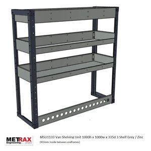 METRAX VAN RACKING SHELVING 1000h x 1000w x 335d 3 shelf - Vivaro,Transit,Trafic