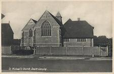 1910's VINTAGE POSTCARD - St. MICHAEL'S CHURCH, SOUTH LANCING POSTCARD