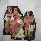 Large Avant Garde Cubist Figures Portrait Oil Painting