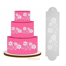 2pcs Flower Cake Stencil Template Pastry Fondant Decorating Side Mold Bake Tool