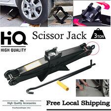 3 Ton Scissor Jack Auto Car Emergency Chromed Crank Lift Stand Tool 3T Heavy