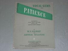 "Vocal gemas de ""paciencia"" Partituras"