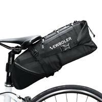 NEWBOLER 10L Bike Bag Bicycle Saddle Tail Seat Storage Rear Pack Bag Waterproof