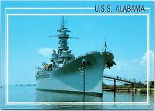 postcard Alabama -USS Alabama battleship